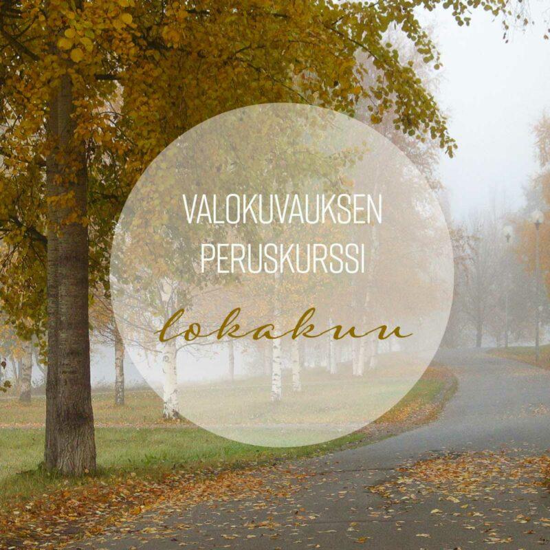 Kamerasta kaveri -valokuvauksen peruskurssi Oulussa 5., 12. ja 19.10. klo 17–20