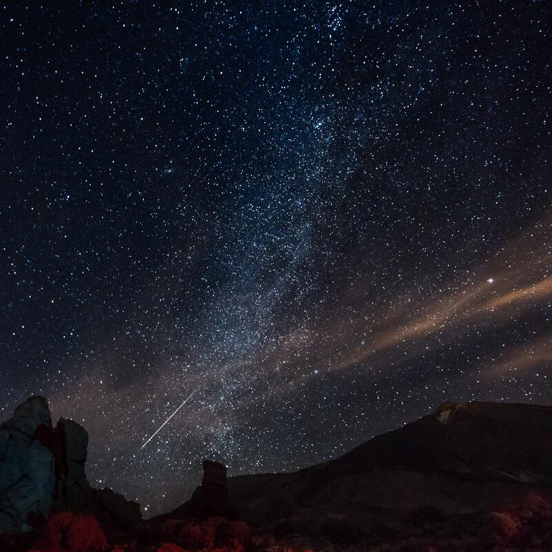 Tähdenlento Teidellä.